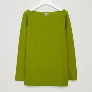 COS Green Textured Jacquard Top